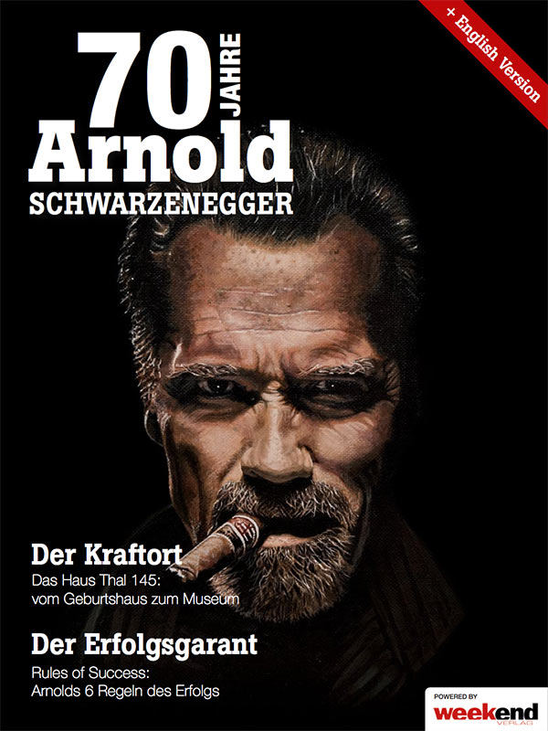 Arnold schwarzenegger museum 70 years of arnold schwarzenegger magazine dedicated to arnold schwarzeneggers 70th birthday available in german and english bookmarktalkfo Image collections