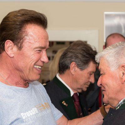 Arnold Schwarzenegger visits his museum
